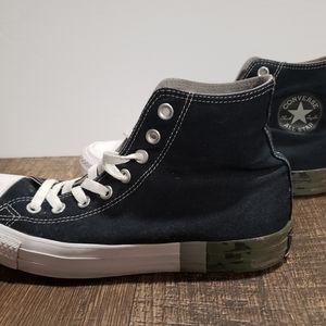 Converse Hi Top Camo Heeled Sneakers